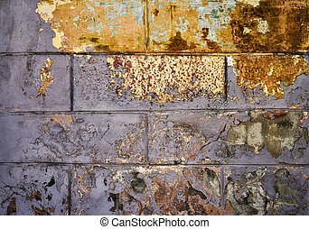 texture of old scraped wall