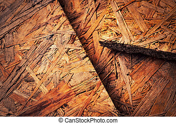 abstract background or texture old osb wood panel