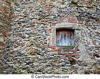 old ruin wall