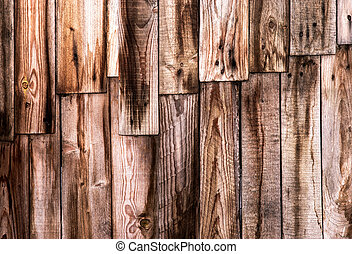 wall of wooden boards