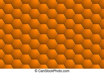 Abstract background orange 3D