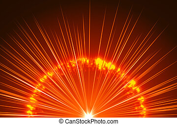 abstract background, orange explosion