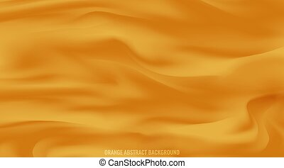 Abstract background orange. Smooth color wave vector.