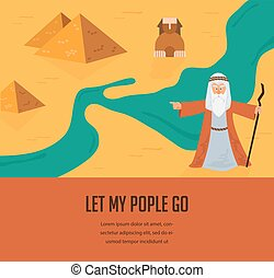 Abstract background - out of the Jews from Egypt. vector and illustration