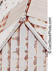 Abstract background pattren of grungy metal roof - Abstract...