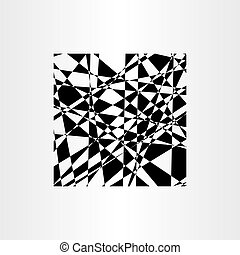 abstract background polygon vector black geometric