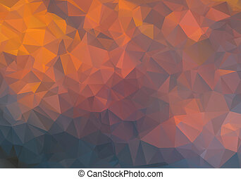 abstract background polygon - Yellow and orange abstract...