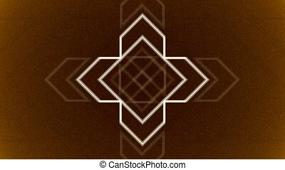Abstract Background Pulsing Geometric Arrows 10 - A computer...