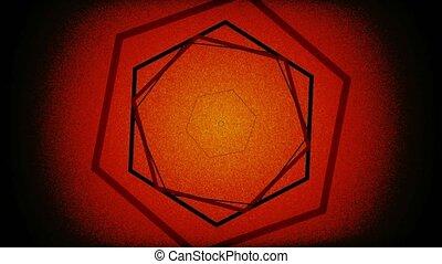 Abstract Background Pulsing Hexagon Flicker 8 - A computer...