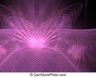 Abstract background. Purple - violet palette. Raster fractal...
