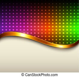 Abstract background rainbow dots
