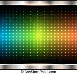 Abstract background, rainbow dots pattern