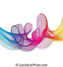 Abstract background Rainbow Ribbon. vector illustration