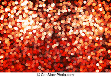 Abstract background, red bokeh circles.