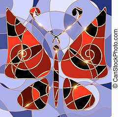 abstract background red butterfly - background variation...