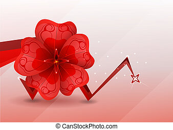 abstract background. red flower.