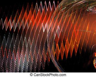 Abstract background. Red - orange palette. Raster fractal ...