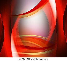 Abstract background red wave