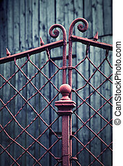 detail of an old iron fence