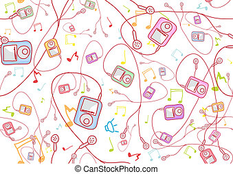abstract background - Retro Seamless Pattern made of cool ...