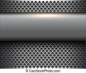Abstract  background silver metallic
