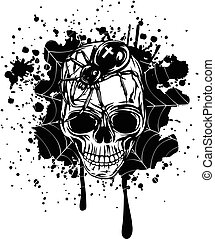 abstract background skull spider and web - Abstract vector ...