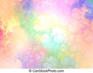 abstract background, sky, clouds, vector illustration