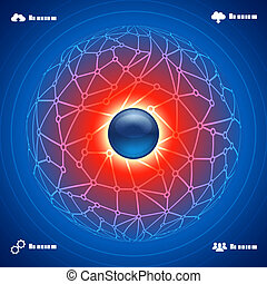 abstract background social network infographic concept illustration vector