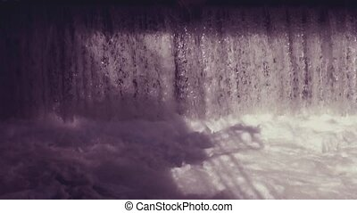 abstract background with flowing water with retro filter...