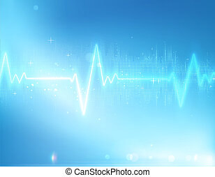 Abstract background - illustration of electrocardiogram line...
