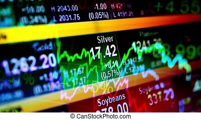 Abstract background stock indices and graphs