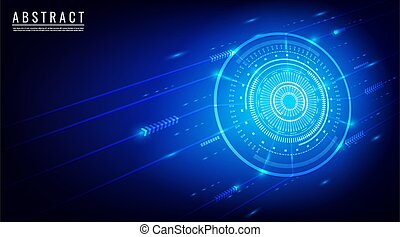 Abstract background technology concept vector. With arrow, dot and circle.