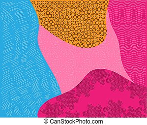 abstract background texture design, bright poster, banner yellow background, pink and blue stripes and shapes