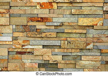 Abstract Background Texture of a Wall With Irregular Sized Bricks