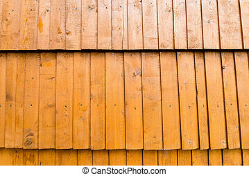 Abstract background textured of aged wooden shingles