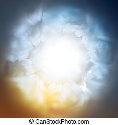 Abstract background, the divine sky, vector Eps10 ...