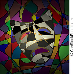 abstract background theatrical mask tragedy: image ...