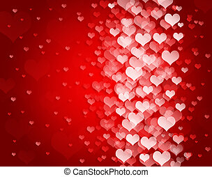 Abstract background to the Valentine's day with hearts