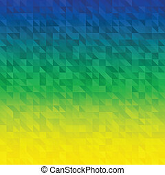 Abstract Background using Brazil flag colors, vector...