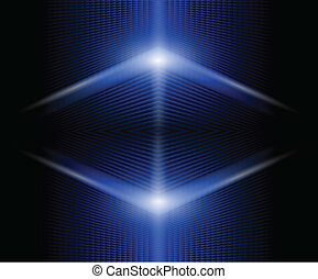 Abstract background glowing blue, vector.
