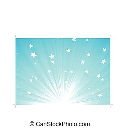 abstract background - Vector illustration of blue Abstract...