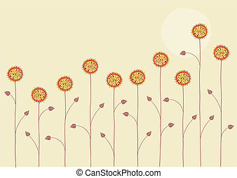abstract Background - Vector illustration of the sun is...