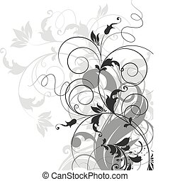 Abstract background. - Floral vector illustration for...