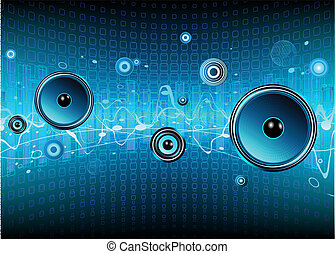 abstract background - Vector illustration of blue abstract ...