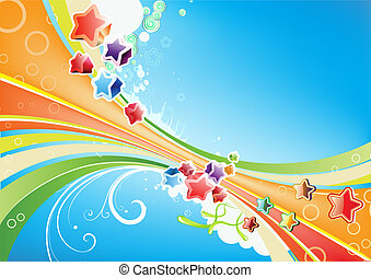abstract Background - Vector illustration of Candy lines...