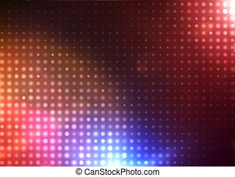 abstract background - Vector illustration of disco lights...