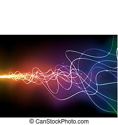 abstract background - Vector illustration of futuristic...