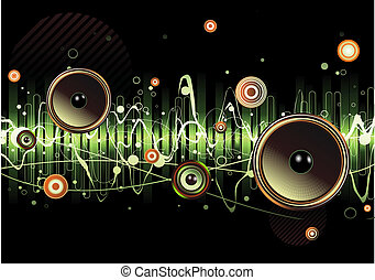 abstract background - Vector illustration of green abstract ...