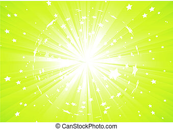 abstract background - Vector illustration of Green...