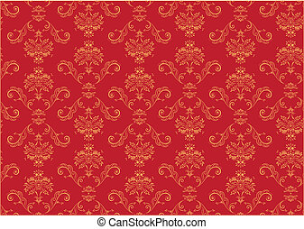 abstract Background - Vector illustration of red elegant...